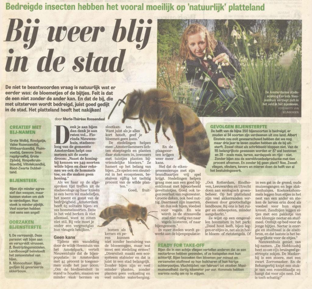 Stadsecoloog Florinda Nieuwenhuis